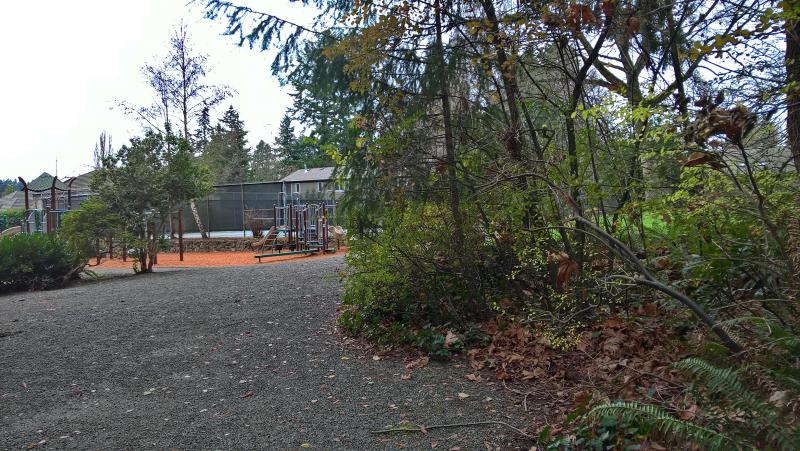 Рекреационная часть - есть всё: детские и спортивные площадки, туалет, стационар, стриженная лужайка, вокруг нормальный хвойный крошечный ЛЕС